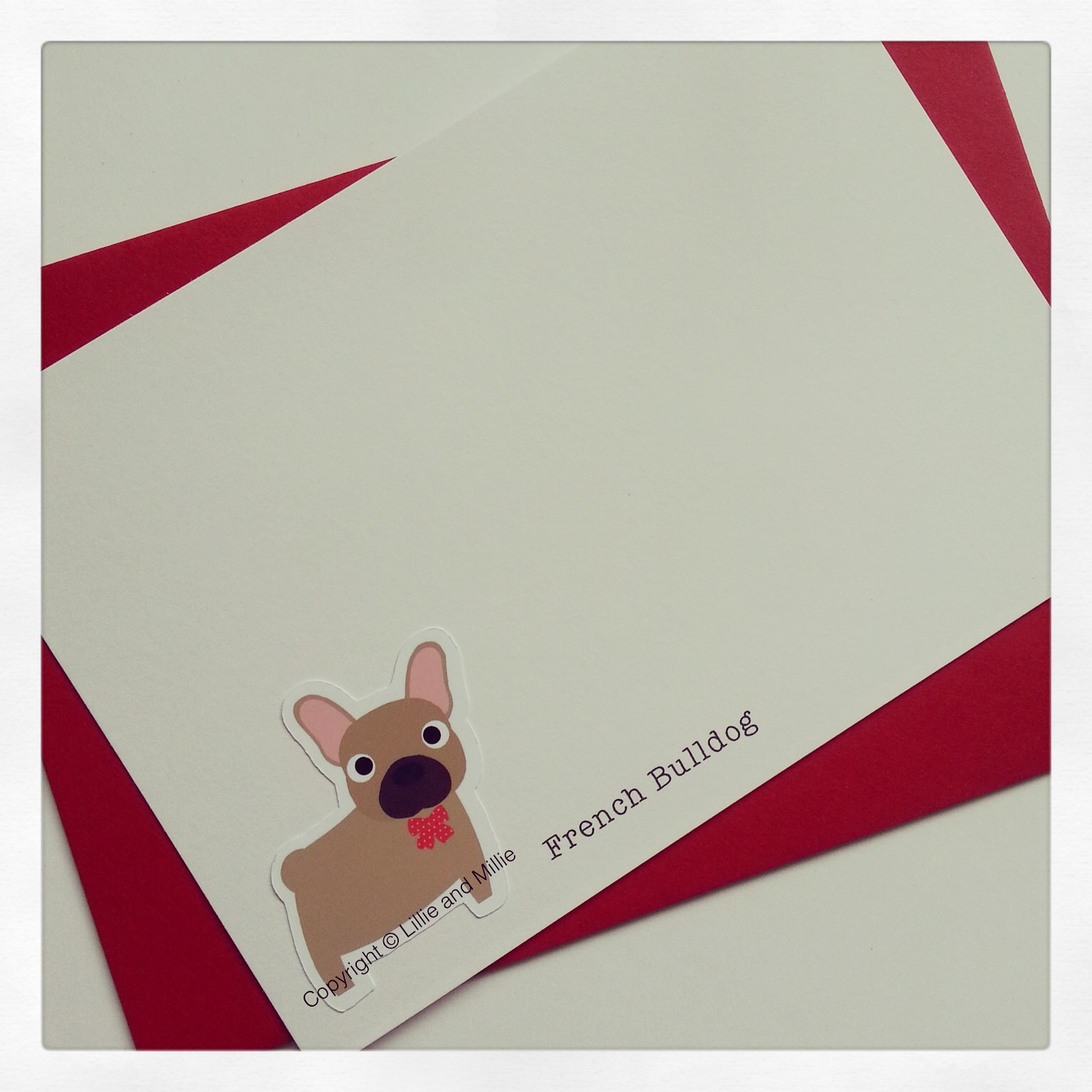 Cute and Cuddly French Bulldog Notelet Cards 4 Pack