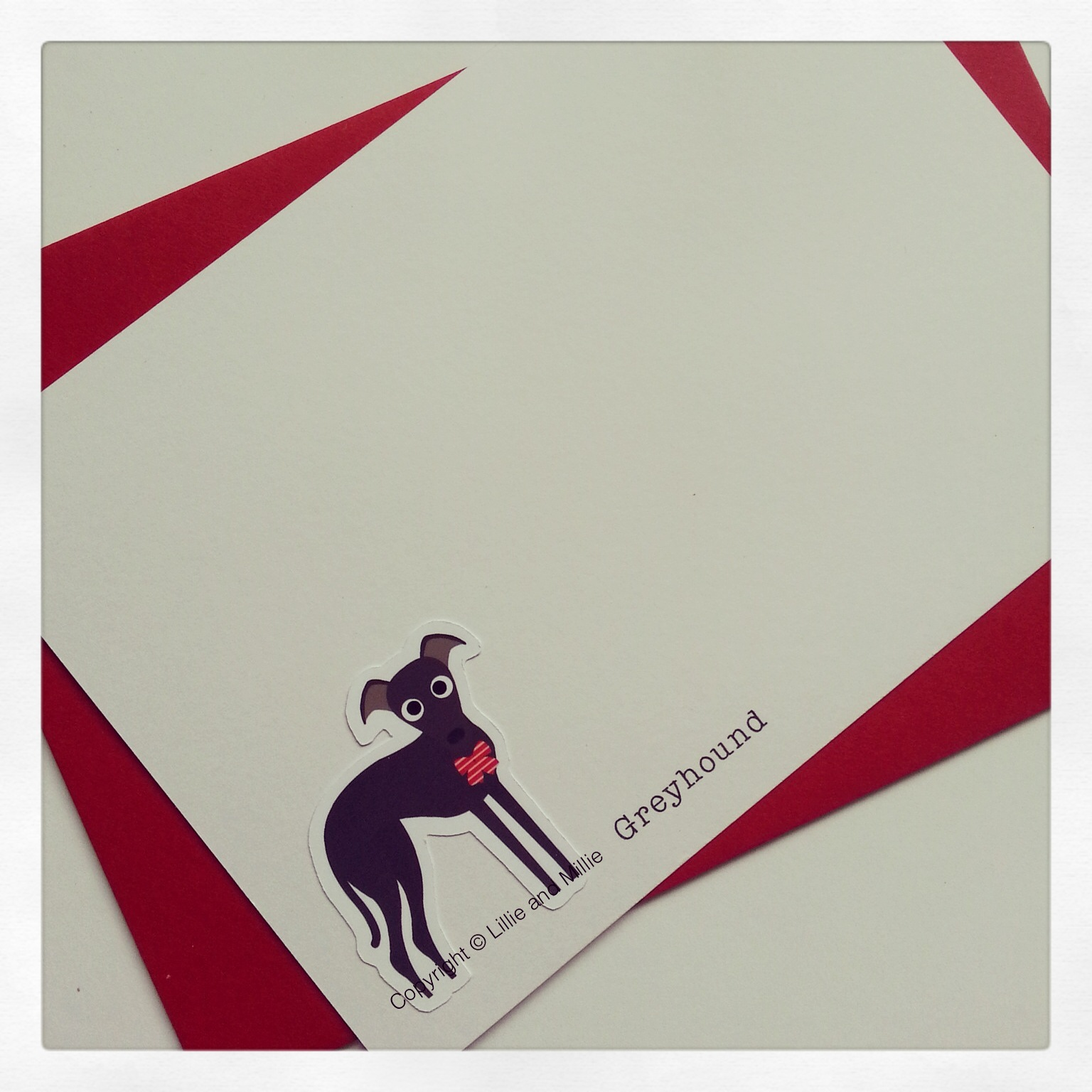 Cute and Cuddly Greyhound Notelet Cards 4 Pack