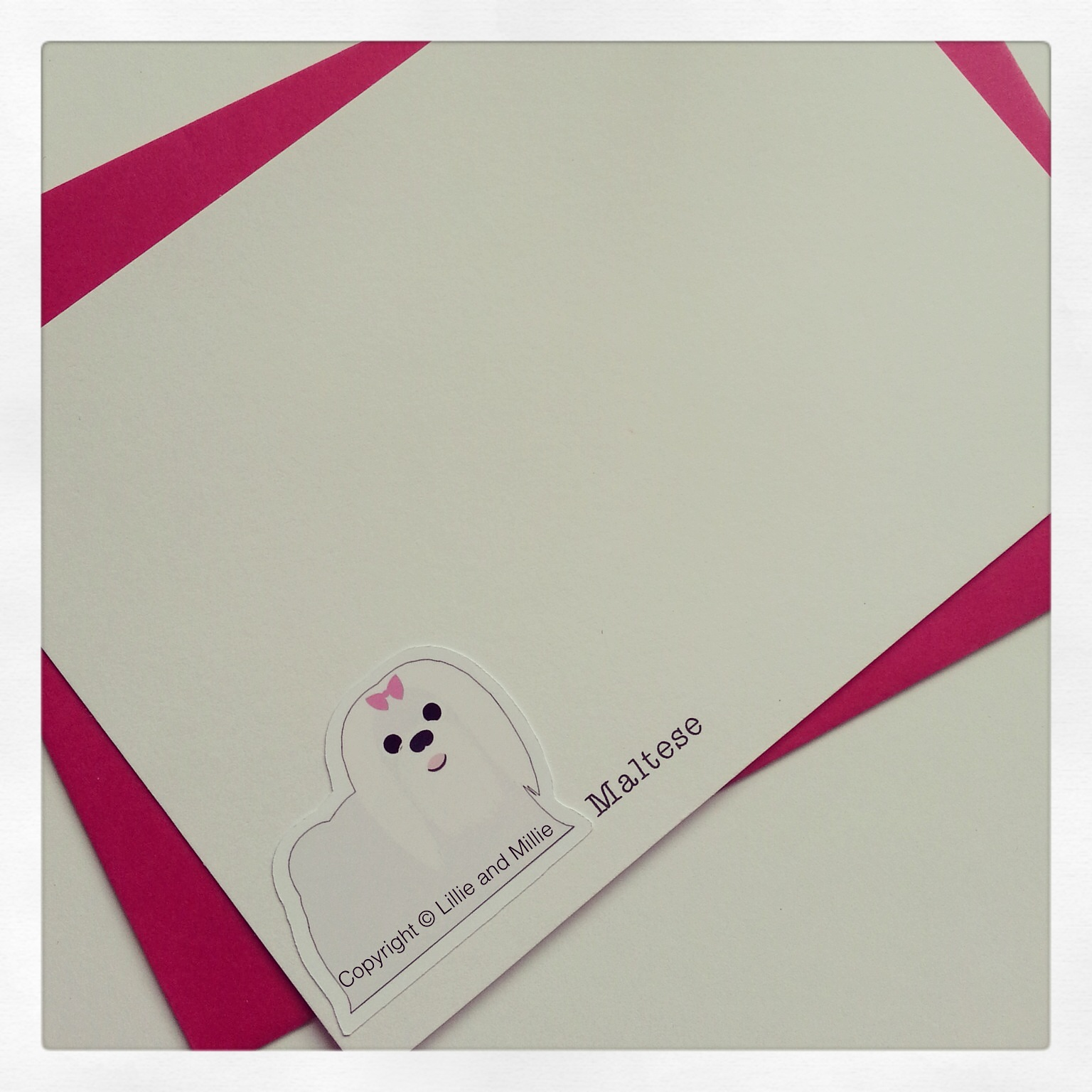 Cute and Cuddly Maltese Notelet Cards 4 Pack