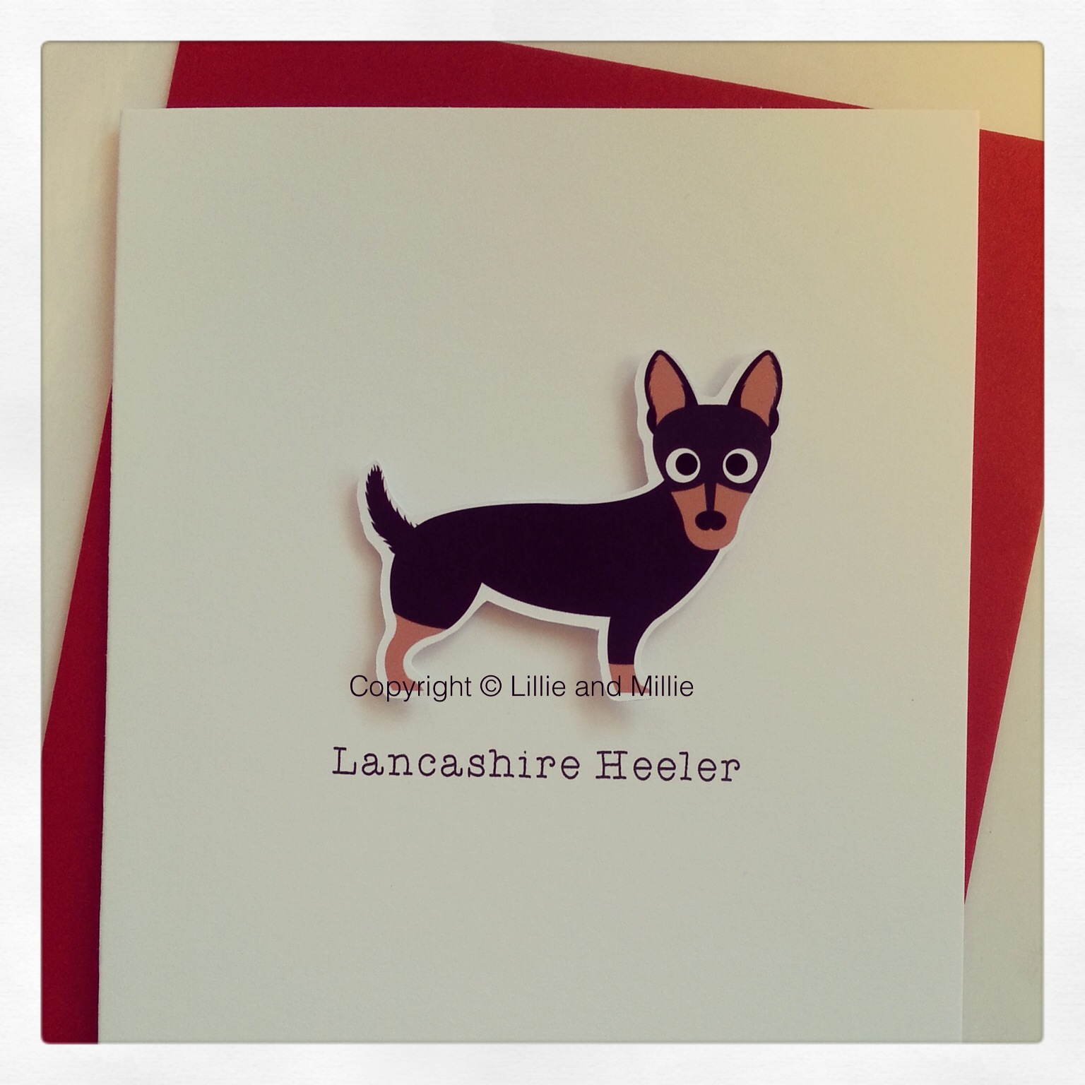 Cute and Cuddly Lancashire Heeler Greetings Card