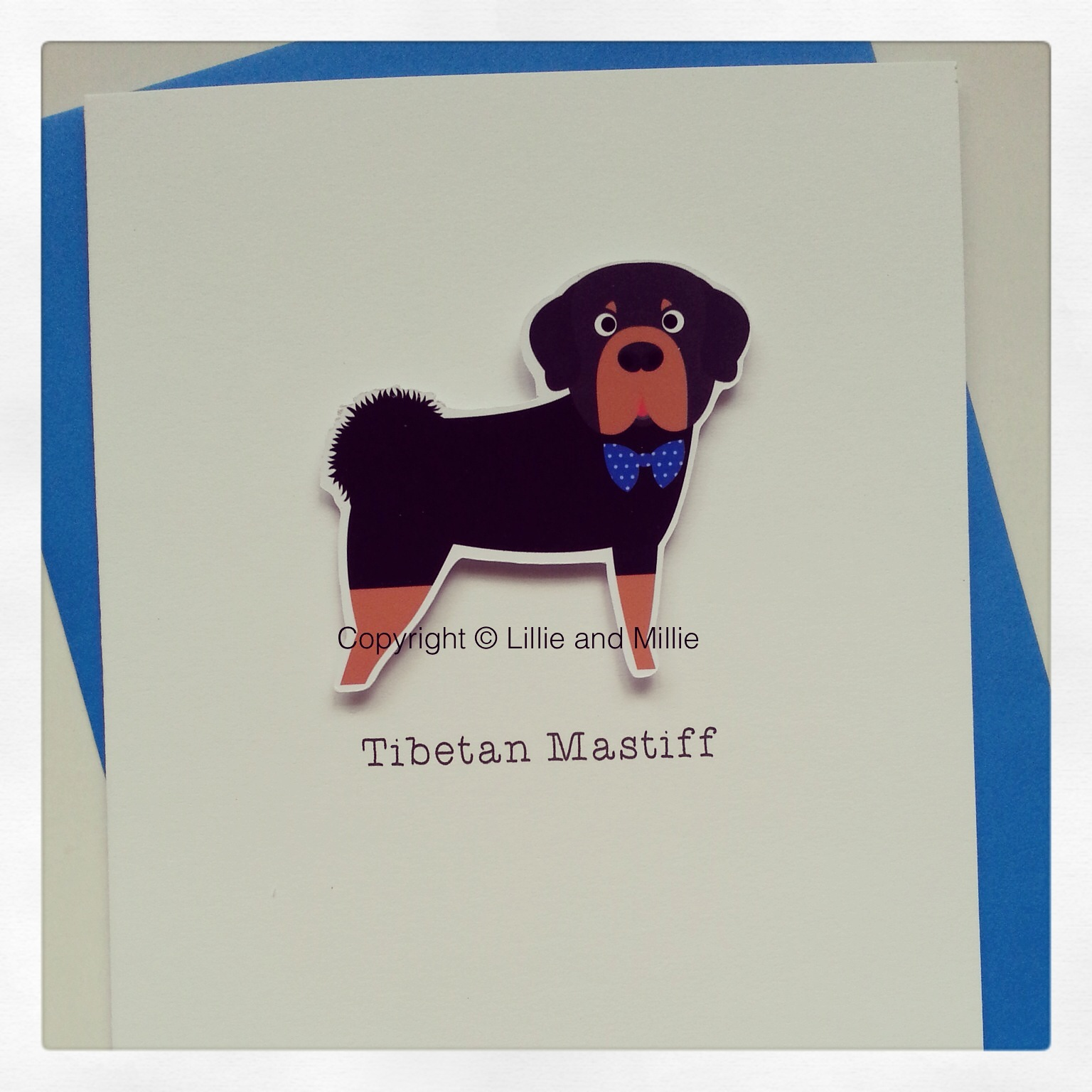 Cute and Cuddly Tibetan Mastiff Greetings Card