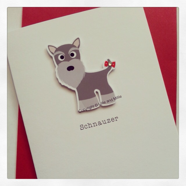Cute and Cuddly Schnauzer Card