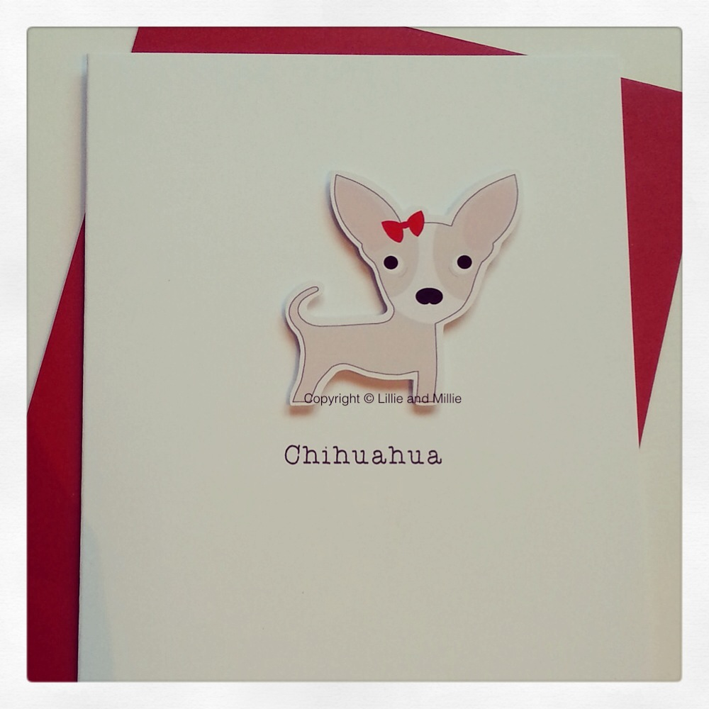 Cream and White Chihuahua Greetings