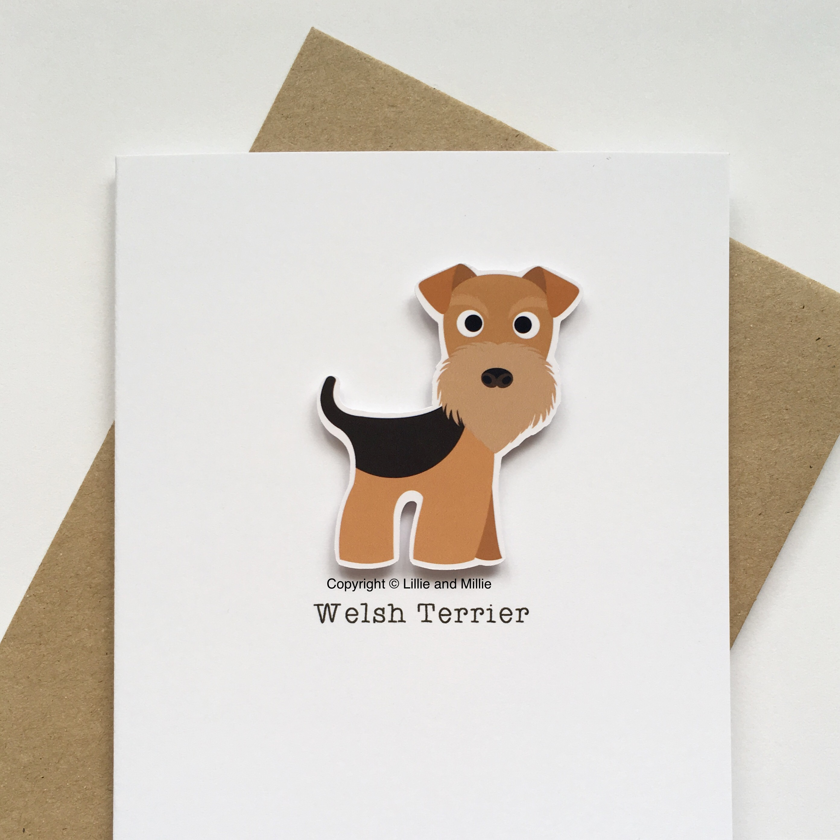 Welsh Terrier Dog Greetings Card