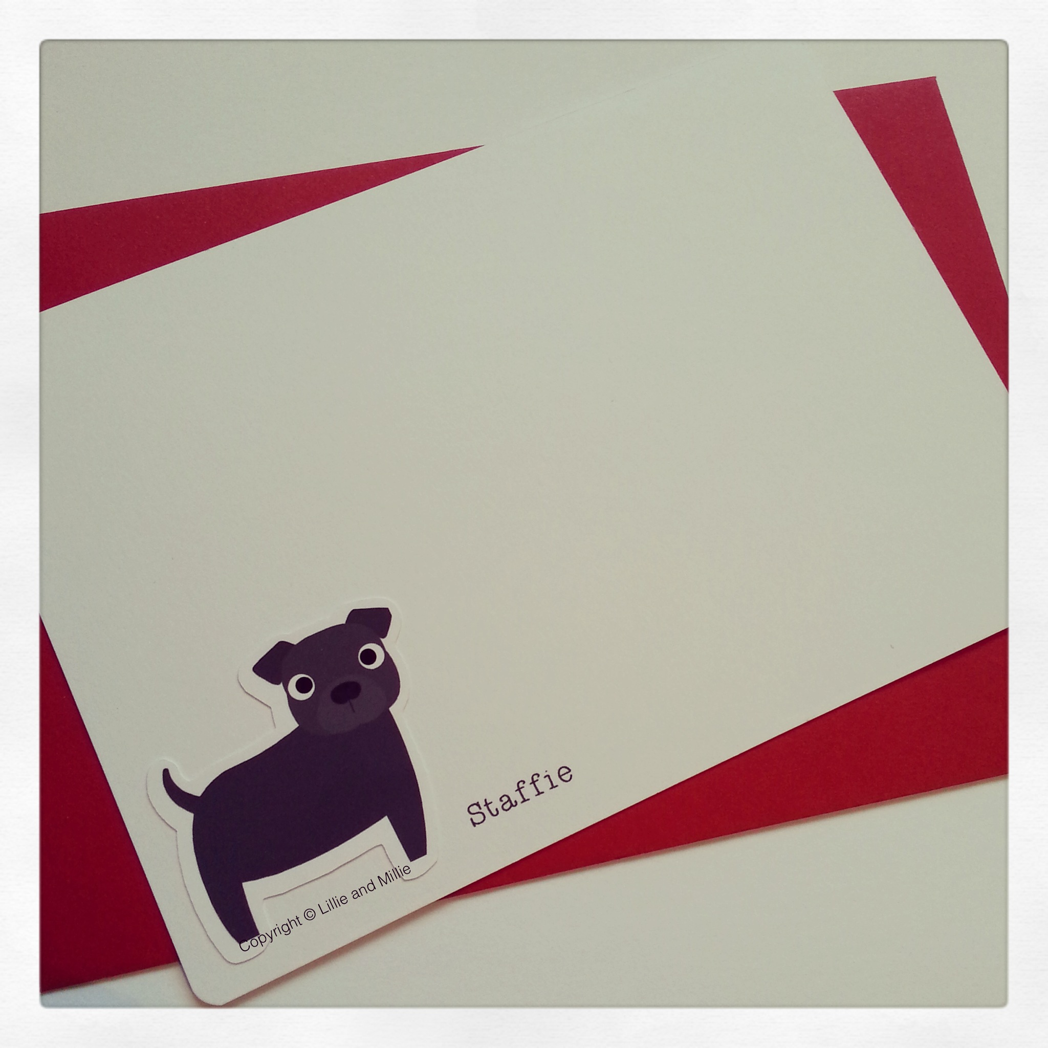 Staffie Notelet Cards
