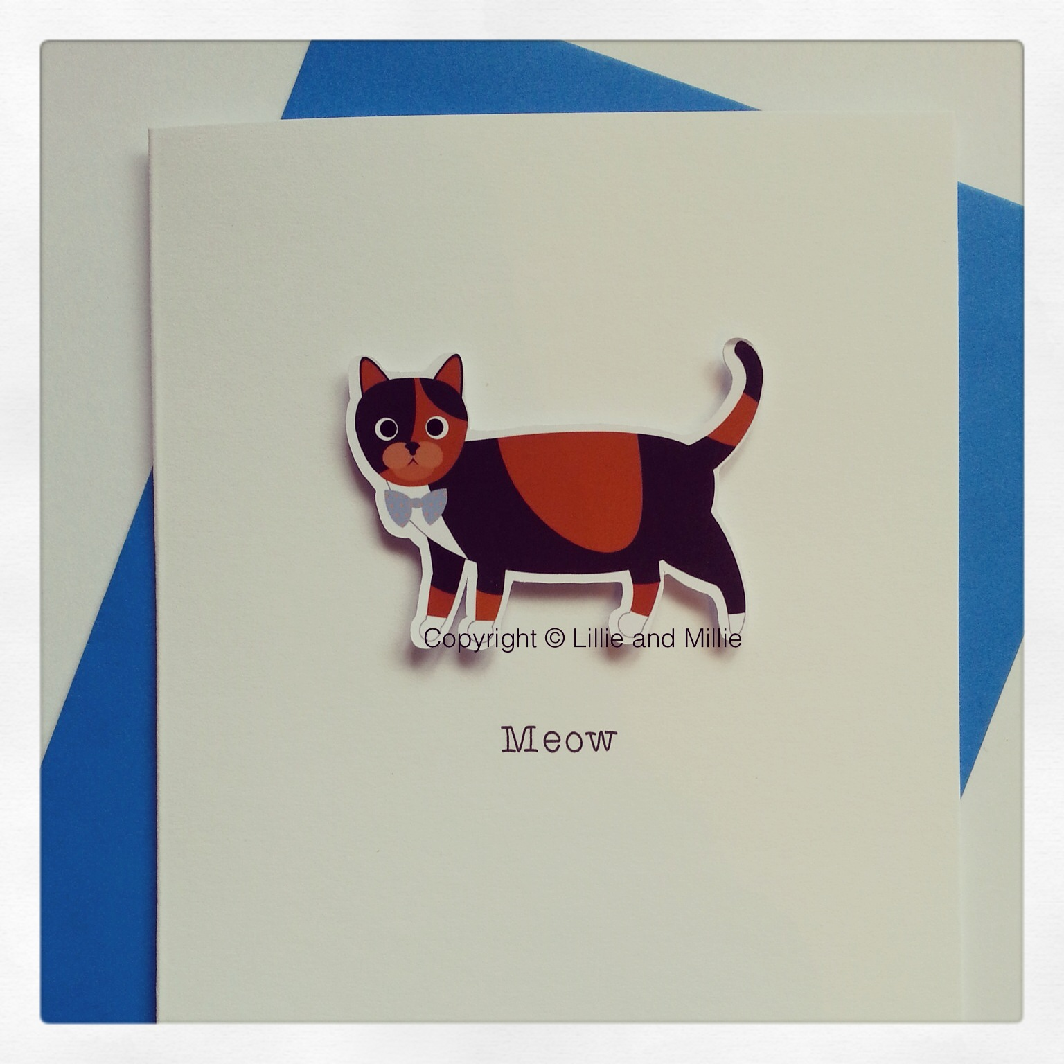 Tortoiseshell Cute and Cuddly Cat Greetings Card
