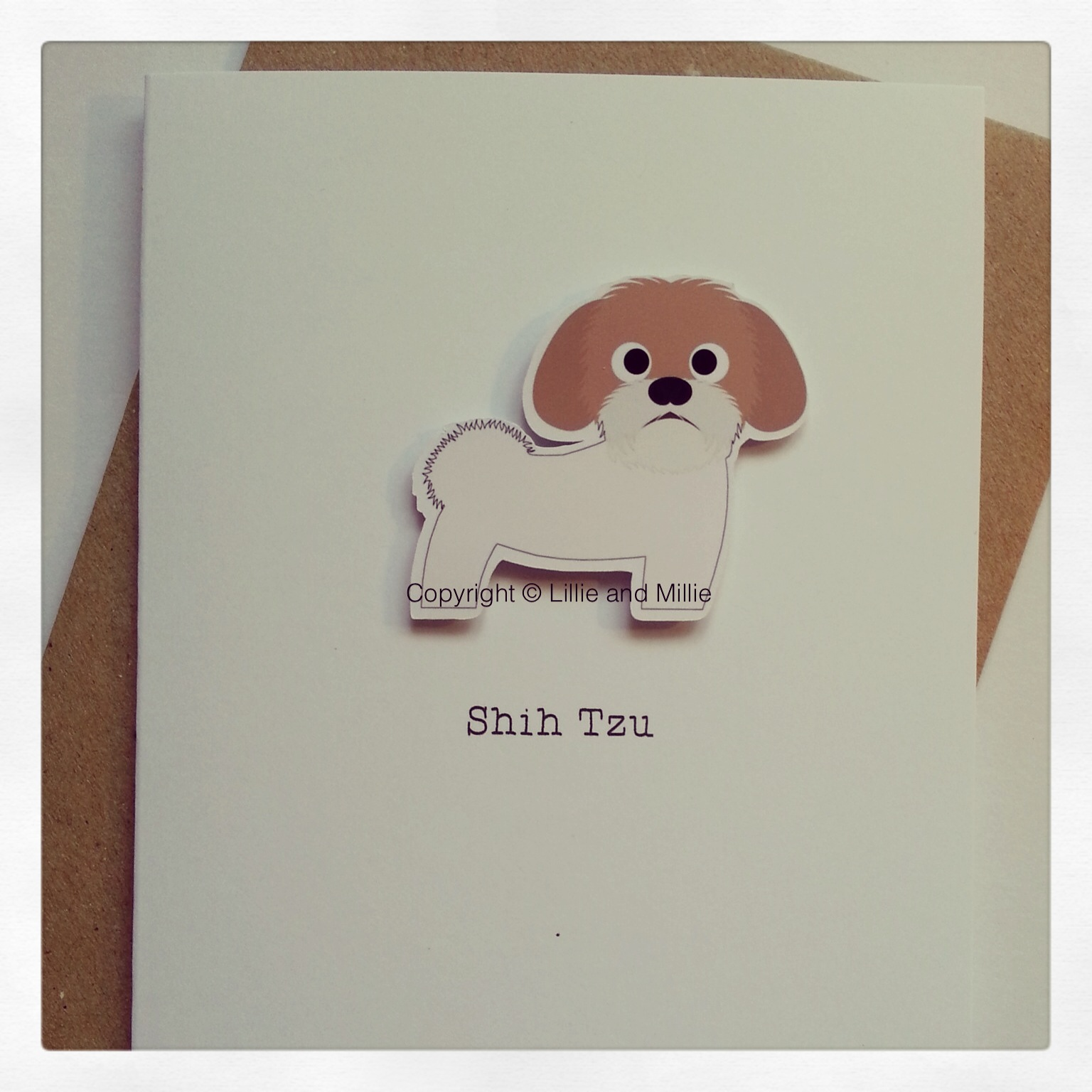 Cute and Cuddly Shih Tzu Greetings Card