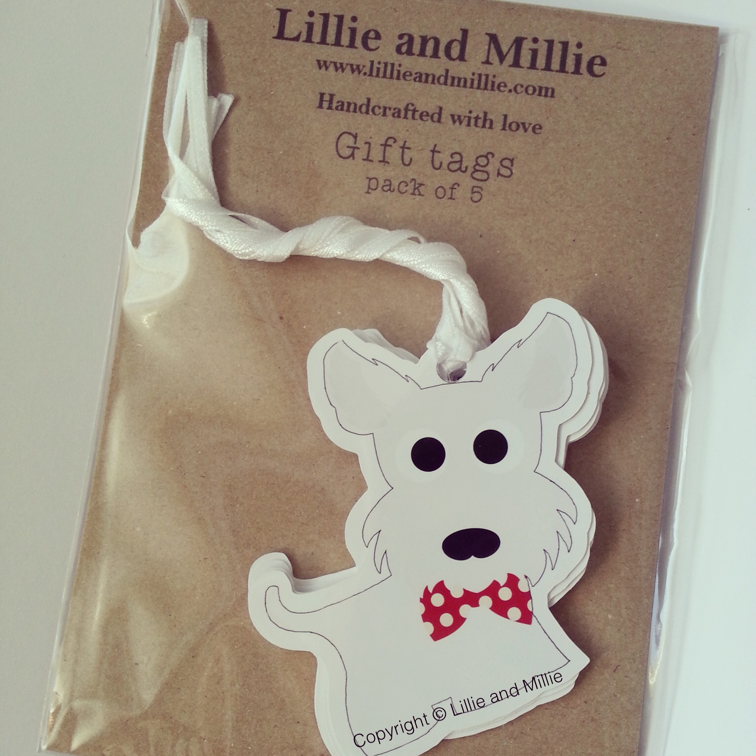 Cute and Cuddly Westie Gift Tags
