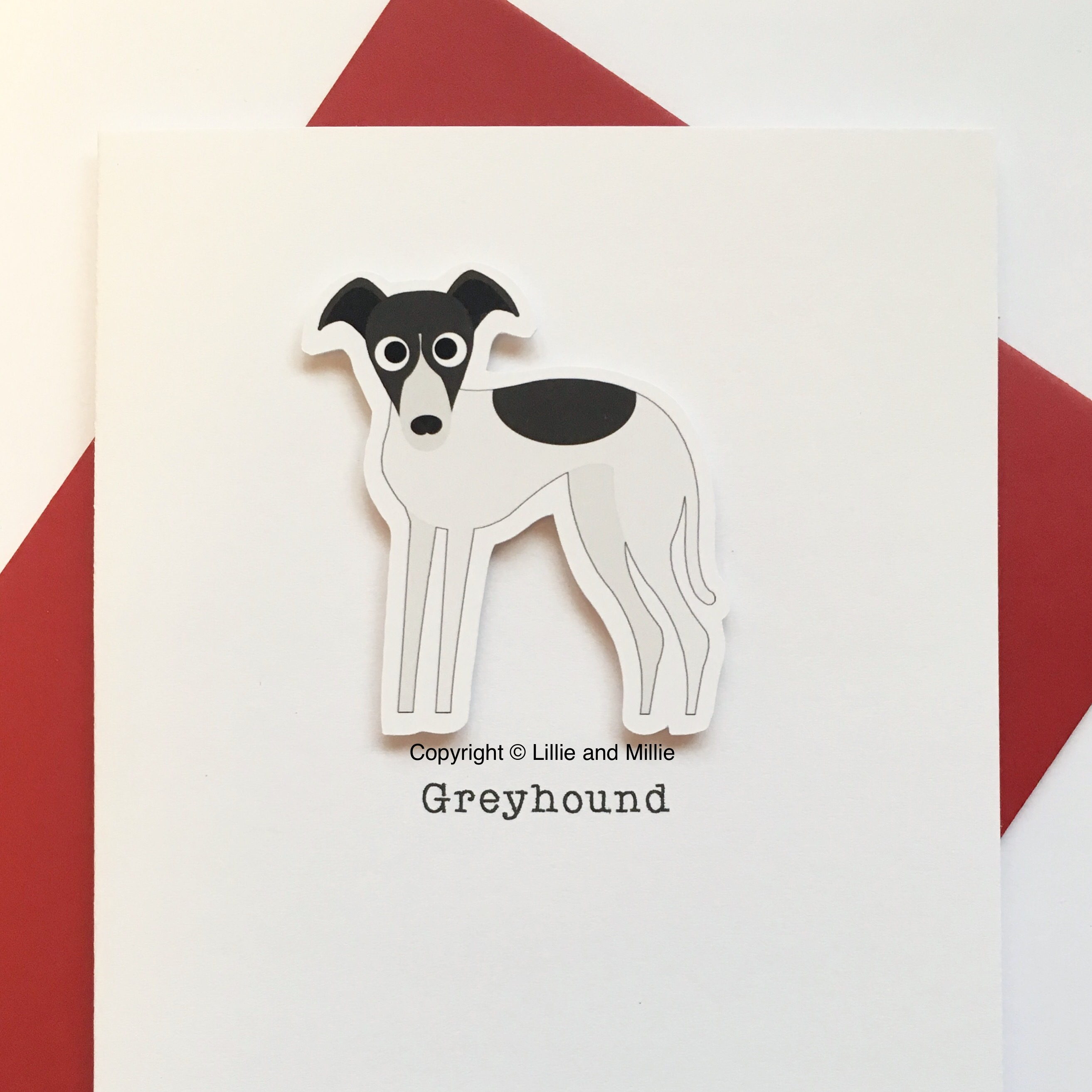 Greyhound Dog Greetings Card