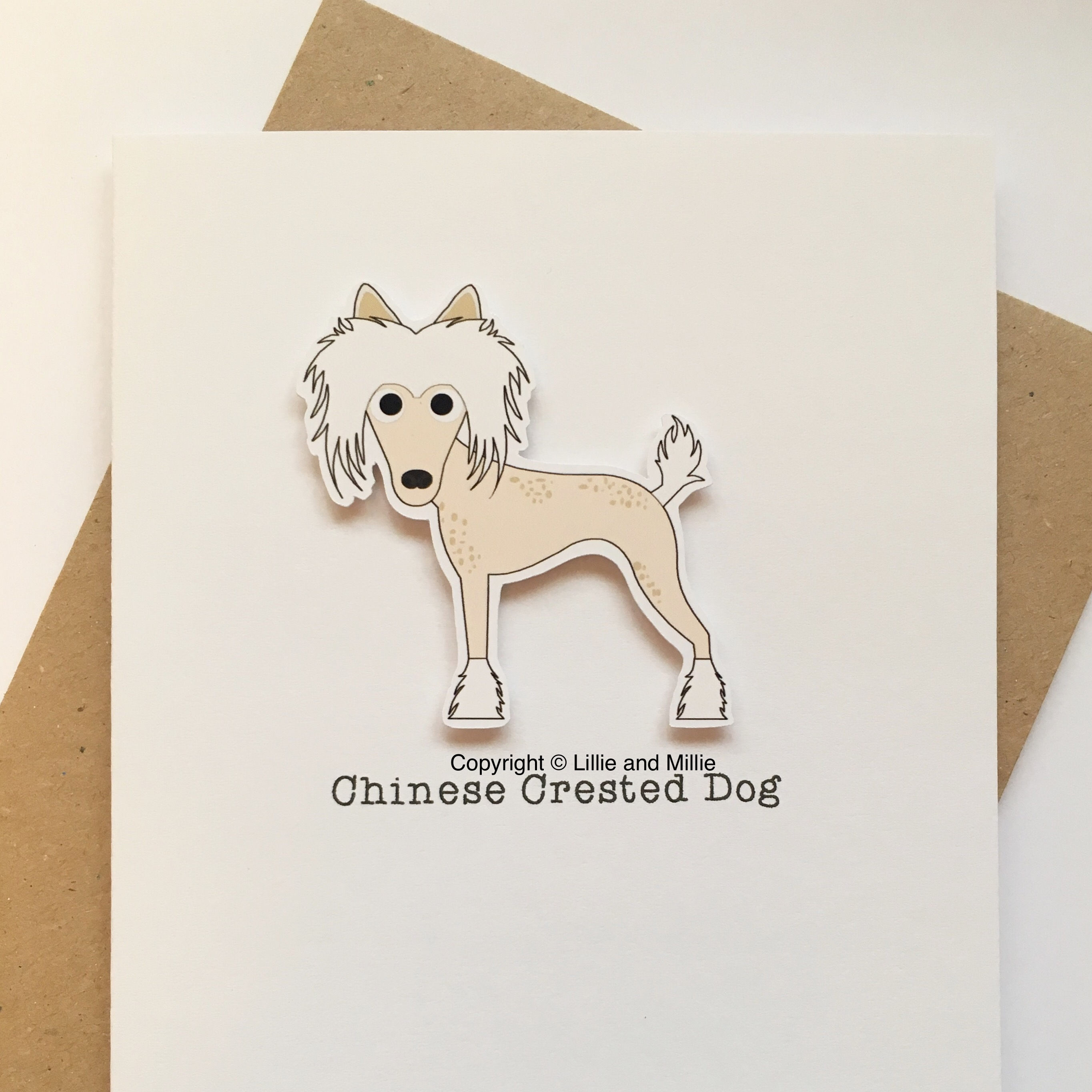 Cute and Cuddly Chinese Crested Dog Card