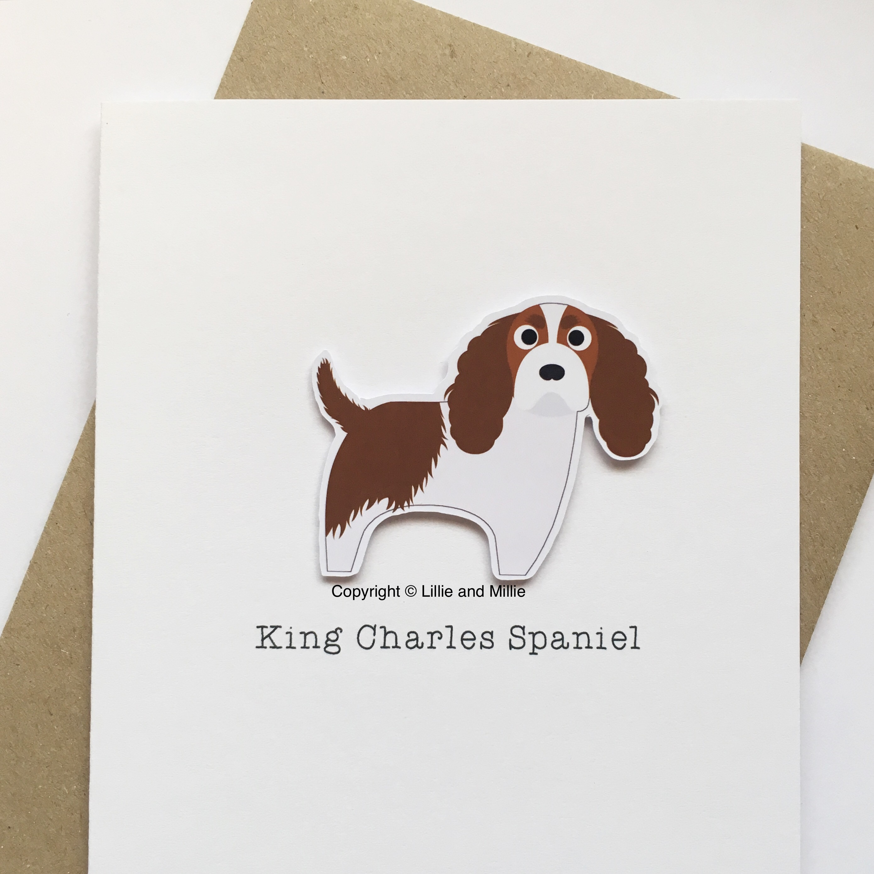 Cute and Cuddly Blenheim King Charles Spaniel Card