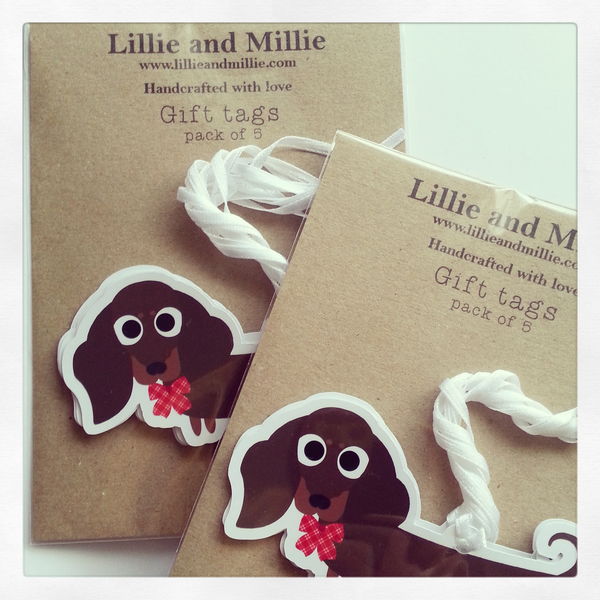 Cute and Cuddly Dachshund Gift Tags 5 Pack