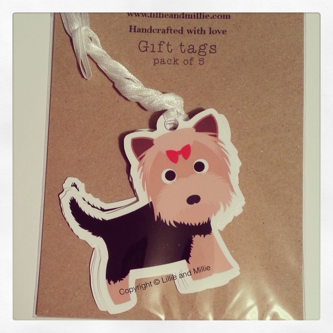 Cute and Cuddly Yorkie Gift Tags 5 Pack