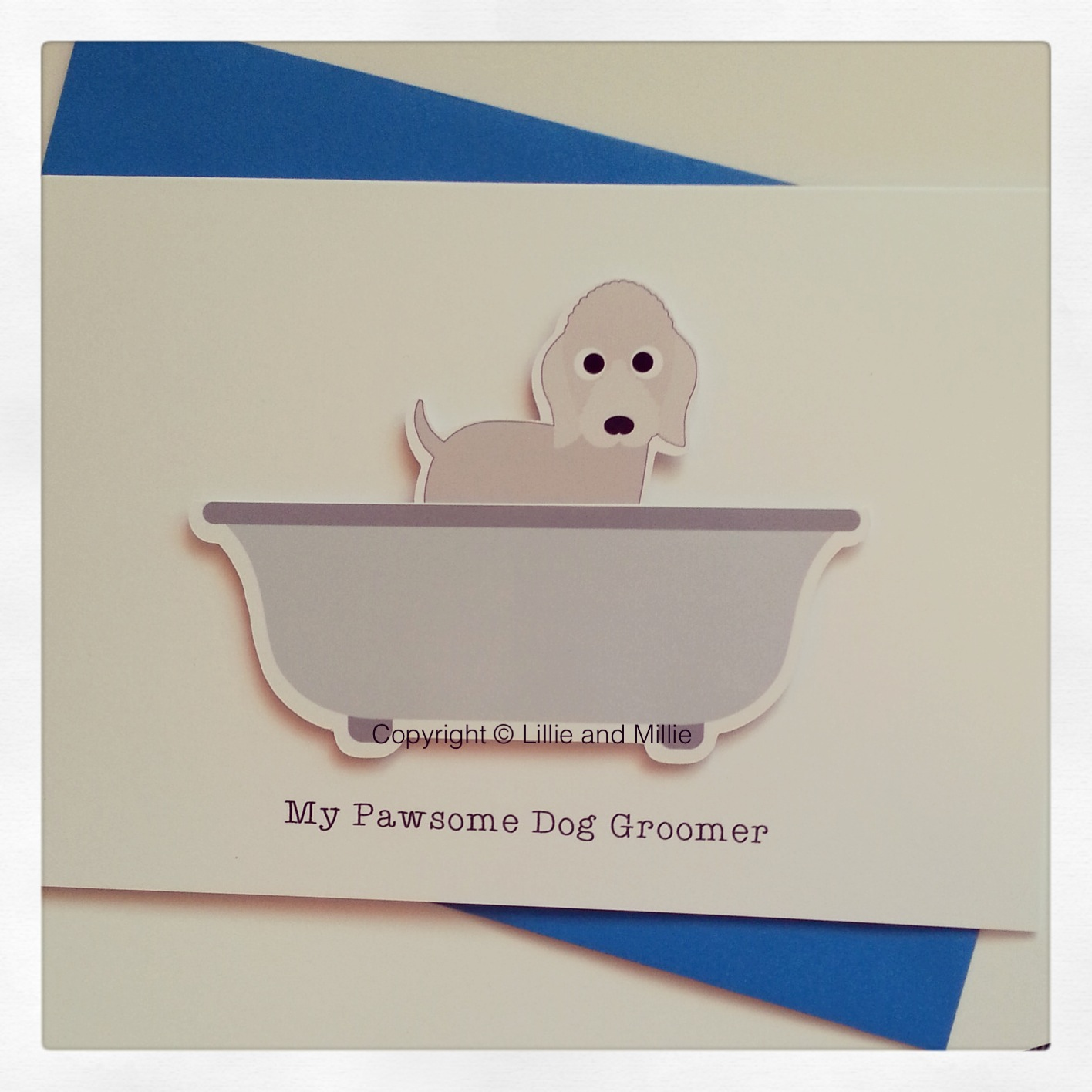 Cute and Cuddly Bedlington Terrier Dog Groomer Card