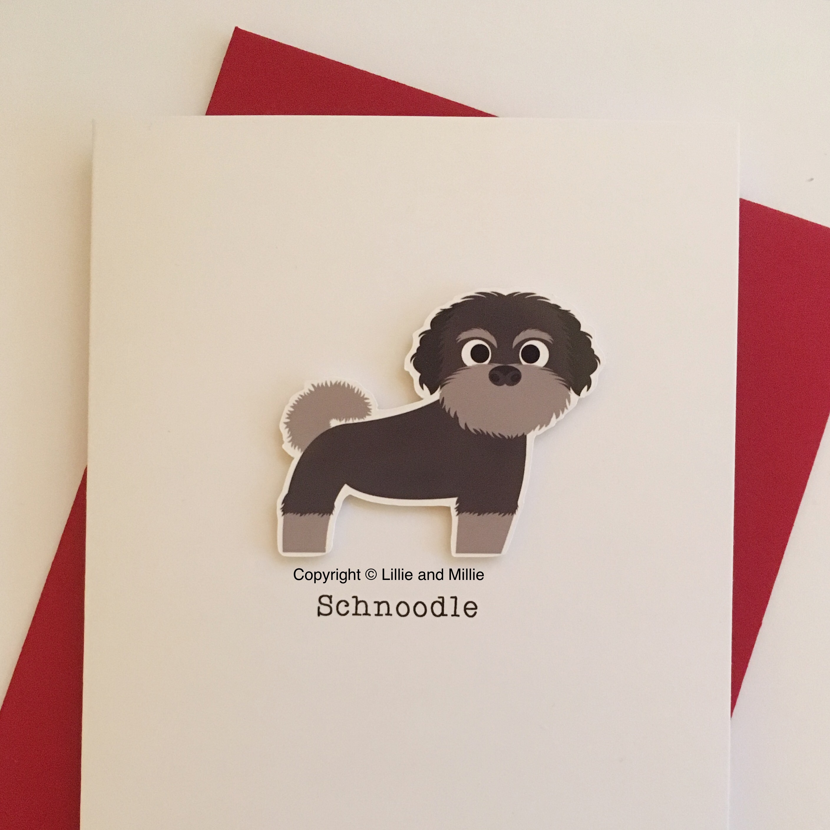 Schnoodle Dog Greetings Card