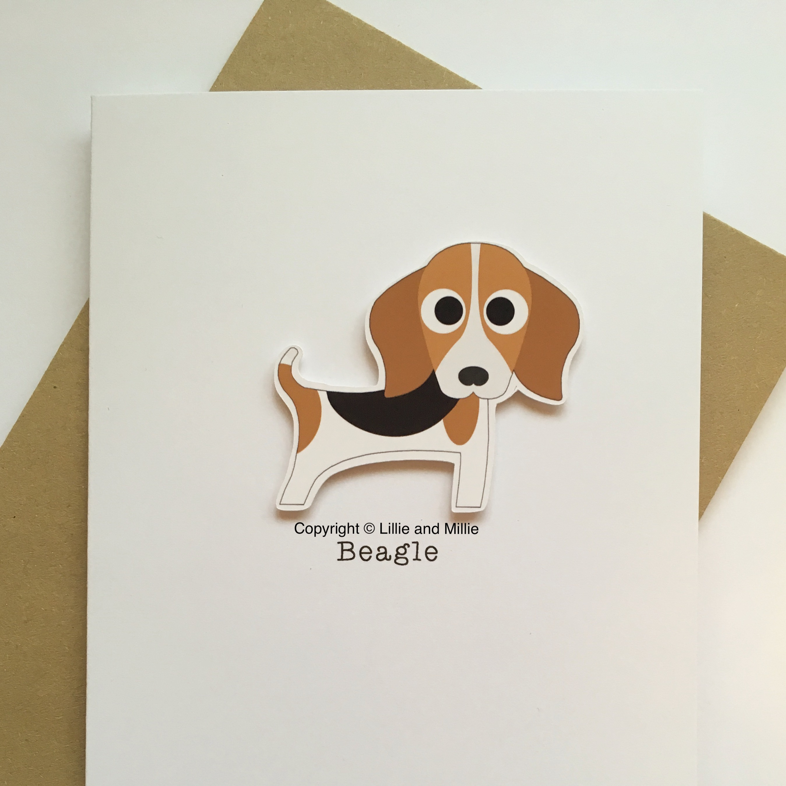 Cute and Cuddly Beagle Breed Card