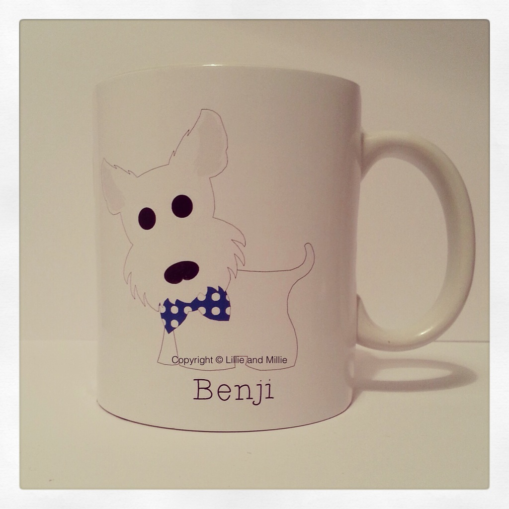 Cute and Cuddly Westie Pink Bow Mug