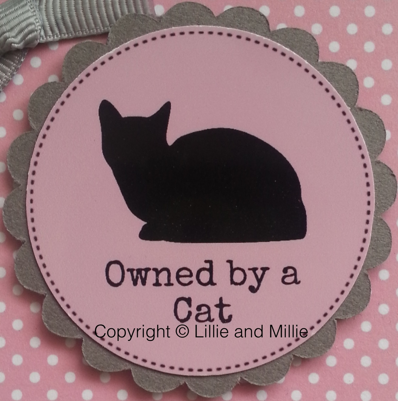 Owned by a Cat Dark Pink Card