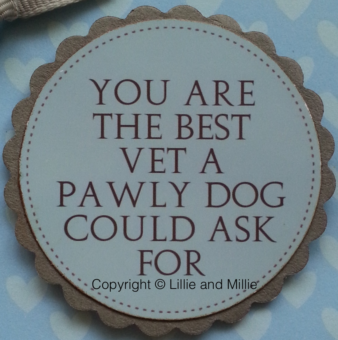 Handcrafted Handmade Pawly Poorly Dog Vet Thank You Card