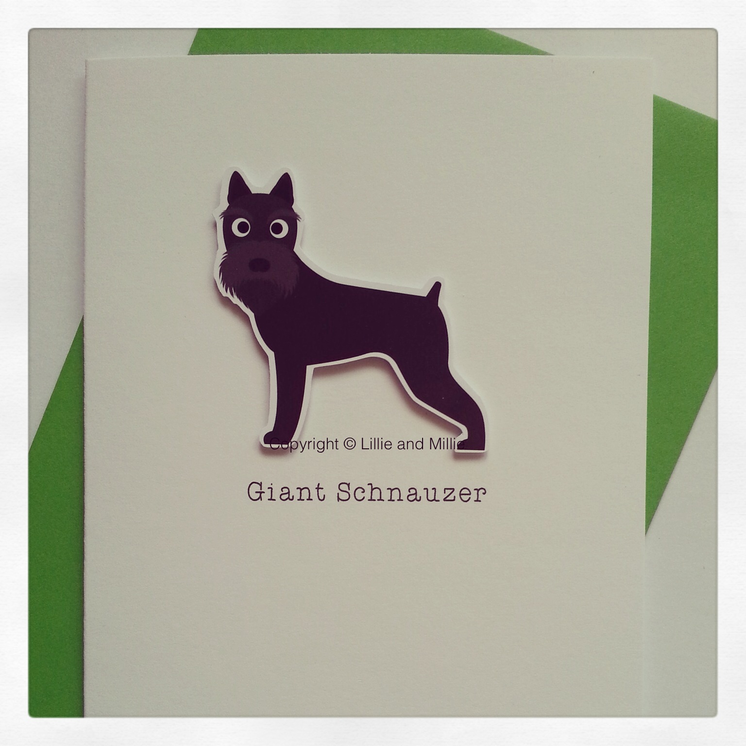 Cute and Cuddly Giant Schnauzer Card