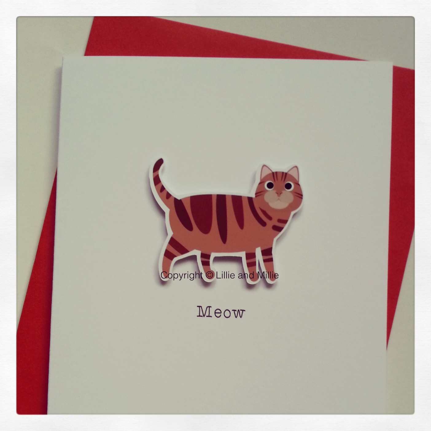 Cute and Cuddly ginger tabby Cat Greetings Card