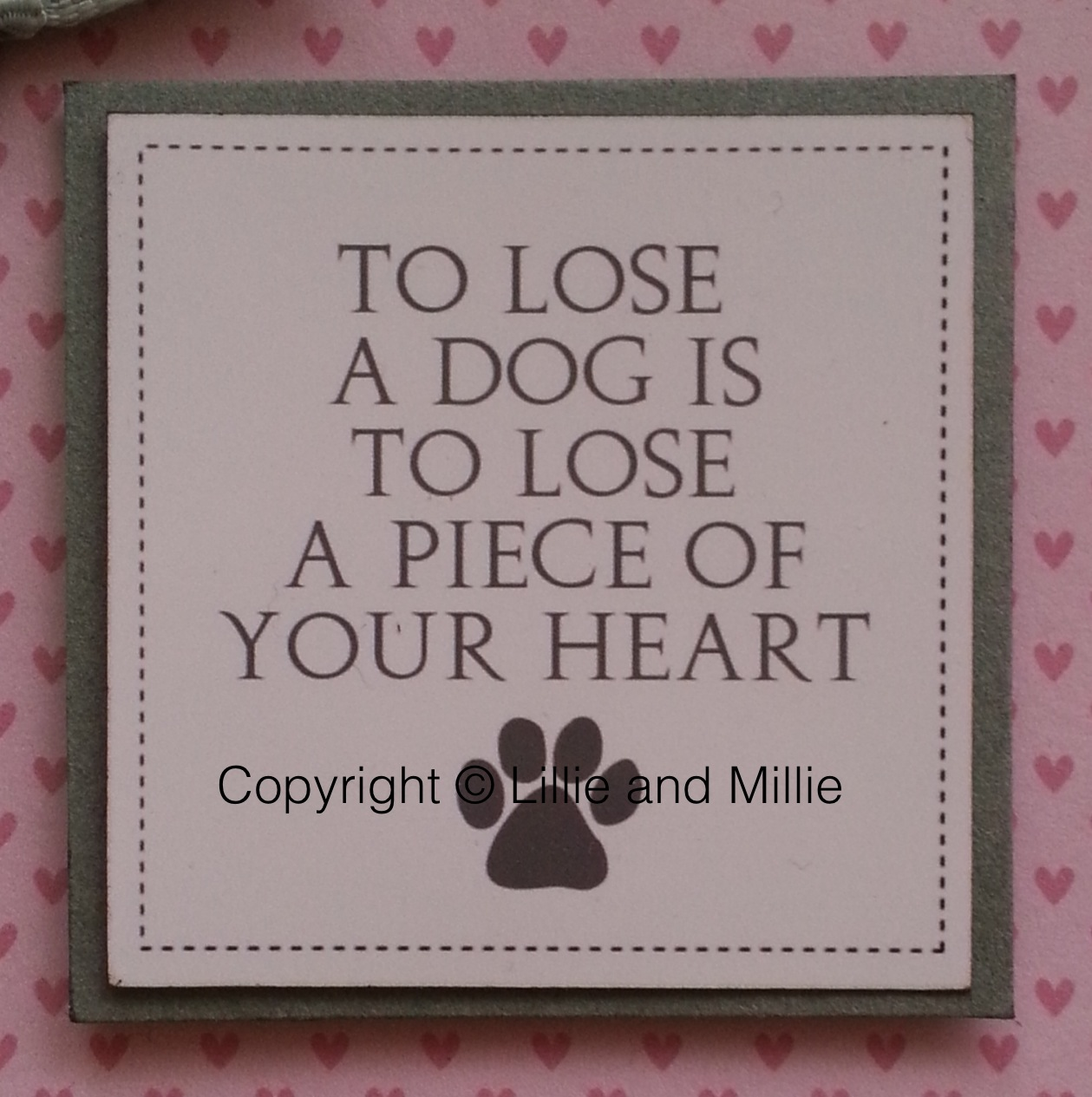Sympathy Loss Dog Cat Pet Greeting Handmade Handcrafted Cards