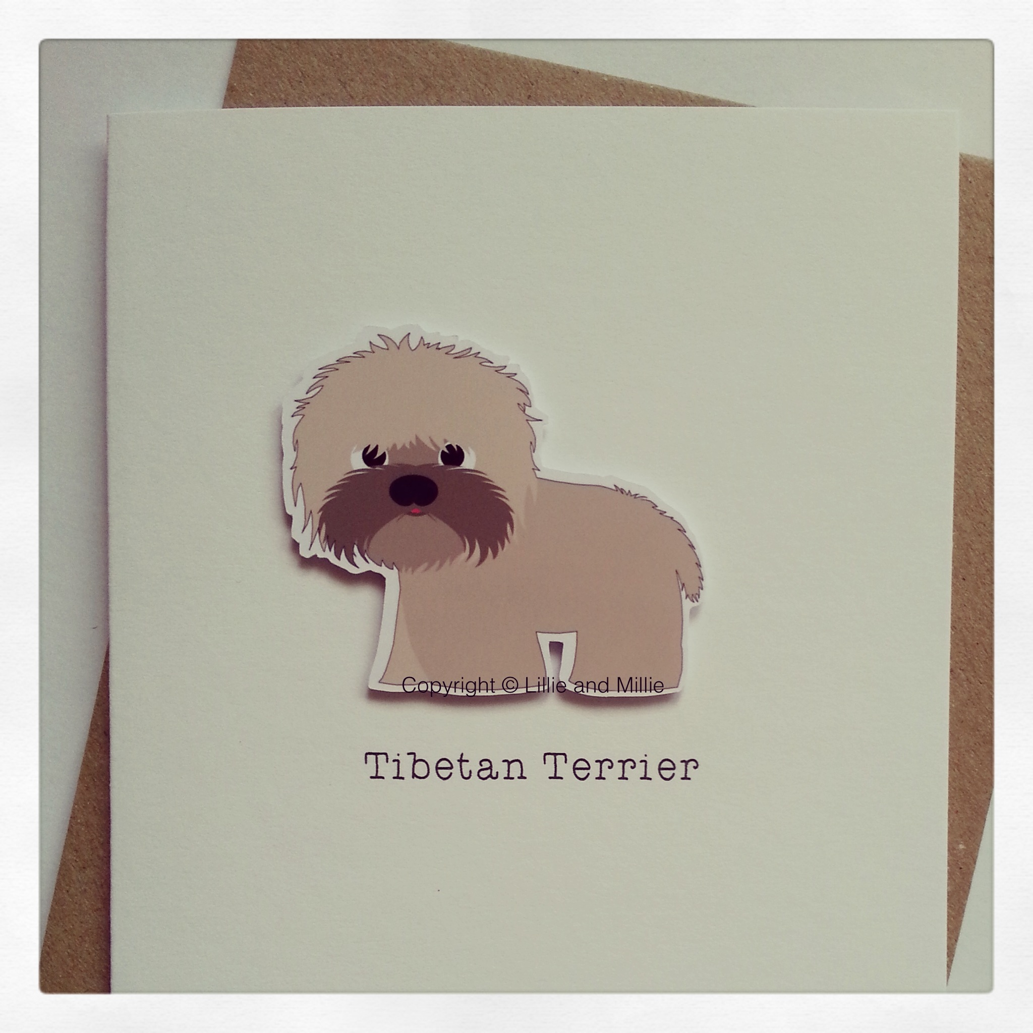 Cute and Cuddly Tibetan Terrier Greetings Card