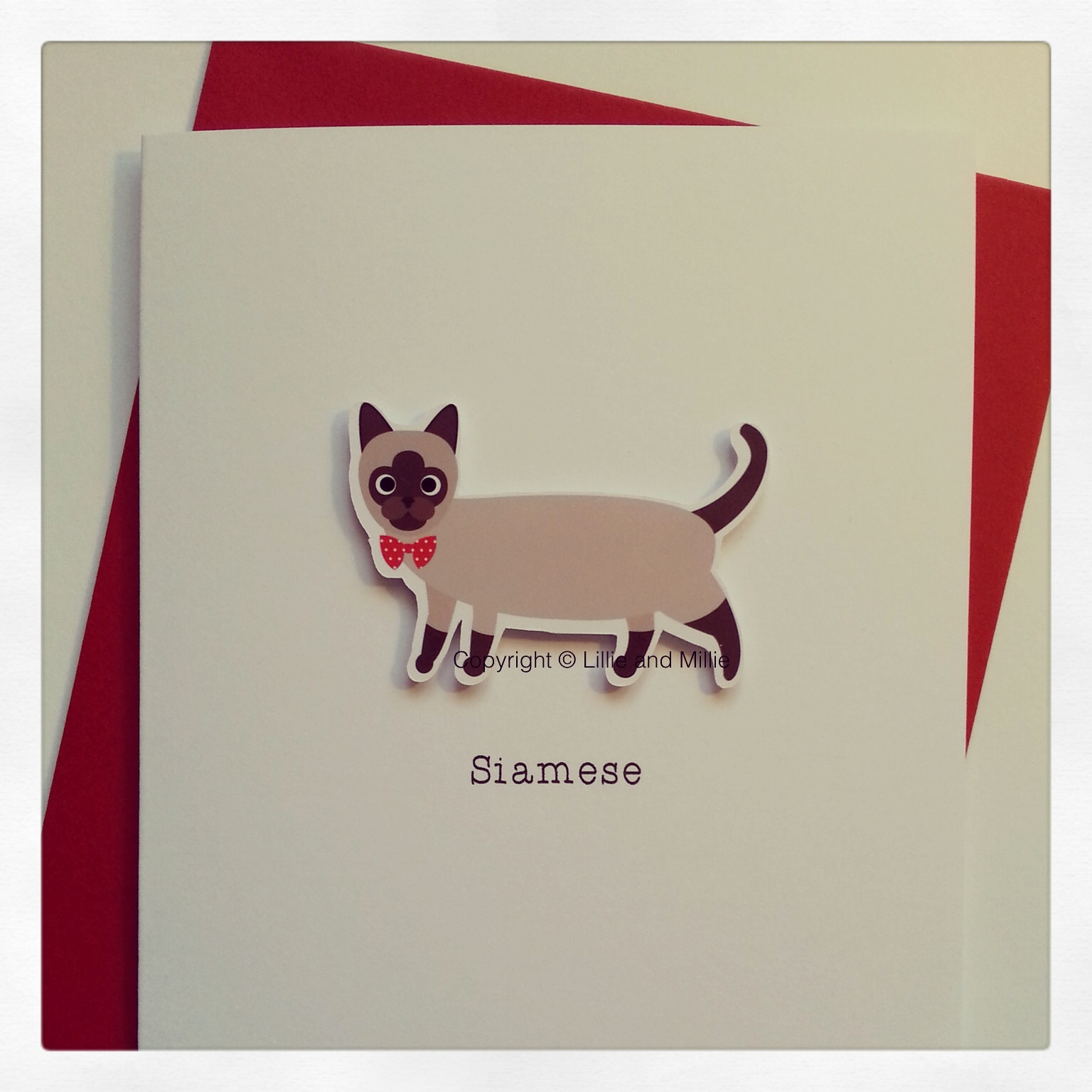 Cute and Cuddly Siamese Cat Greetings Card