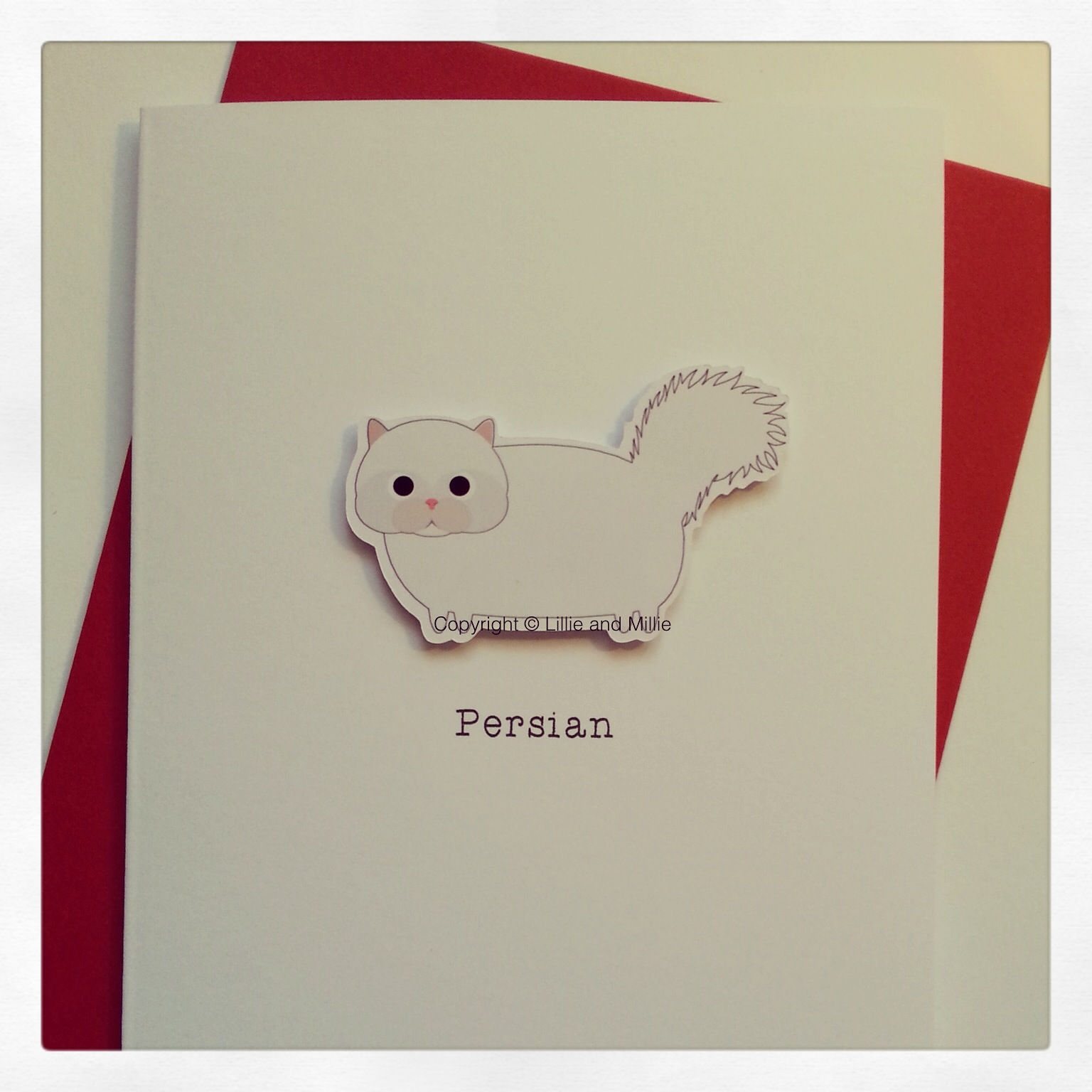 Cute and Cuddly Persian Cat Greetings Card