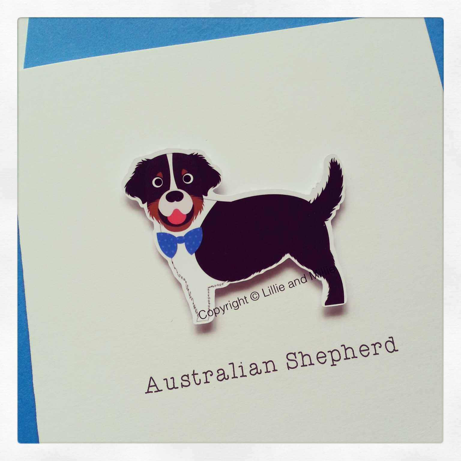 Cute and Cuddly Australian Shepherd Greetings Card