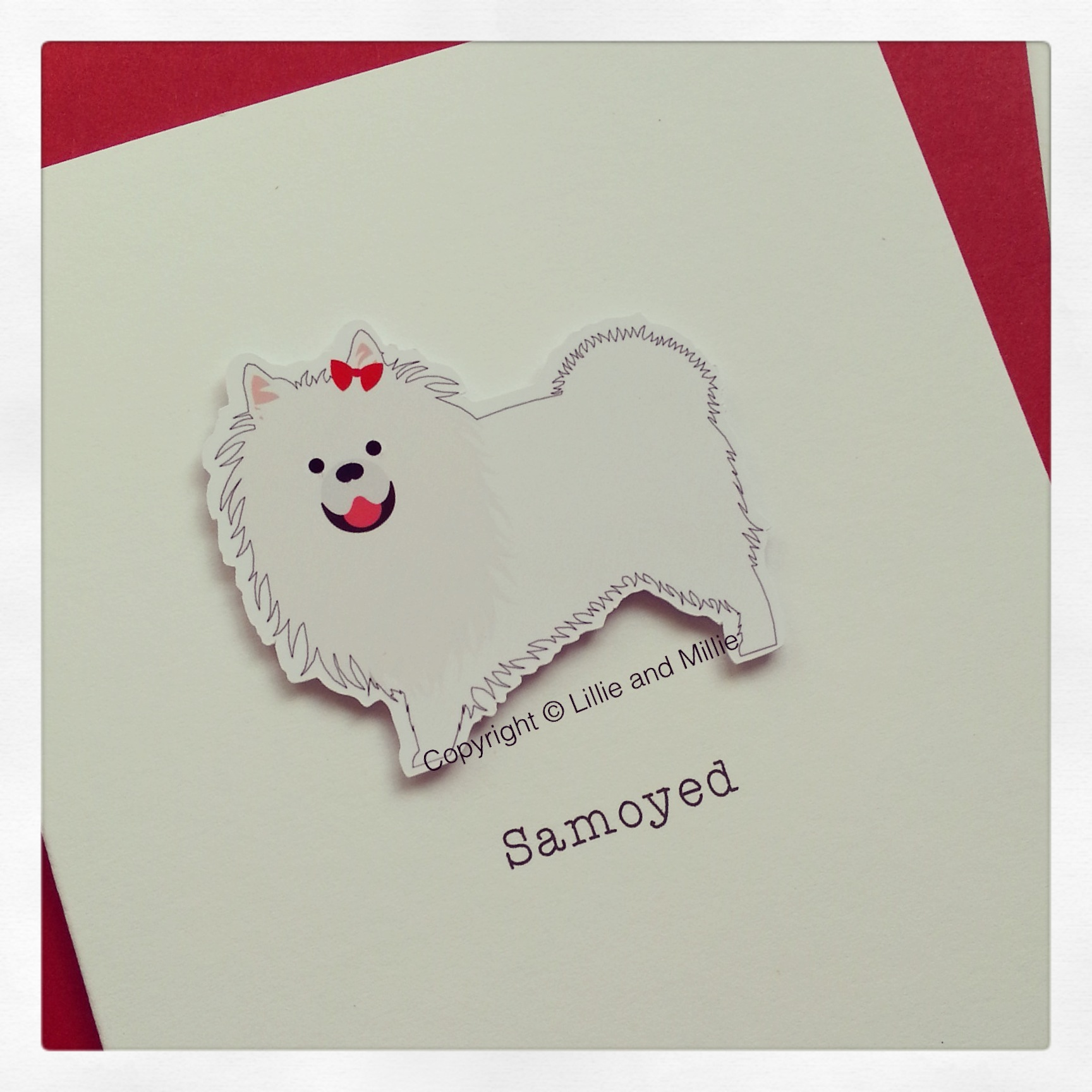 Samoyed Dog Greetings Card