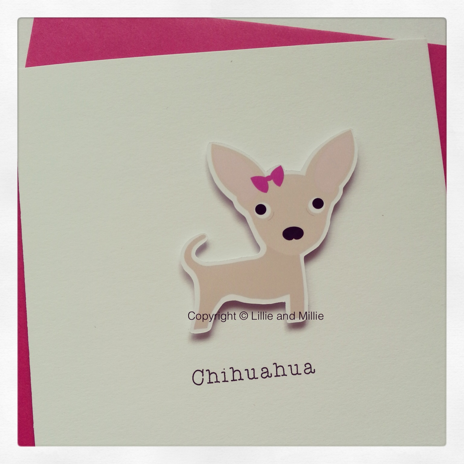 Cute and Cuddly Smooth Chihuahua Card