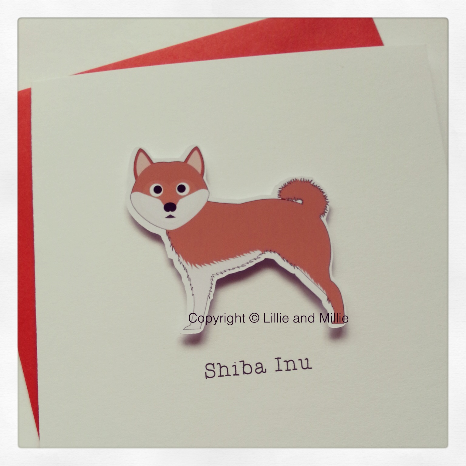 Cute and Cuddly Shiba Inu Greetings Card