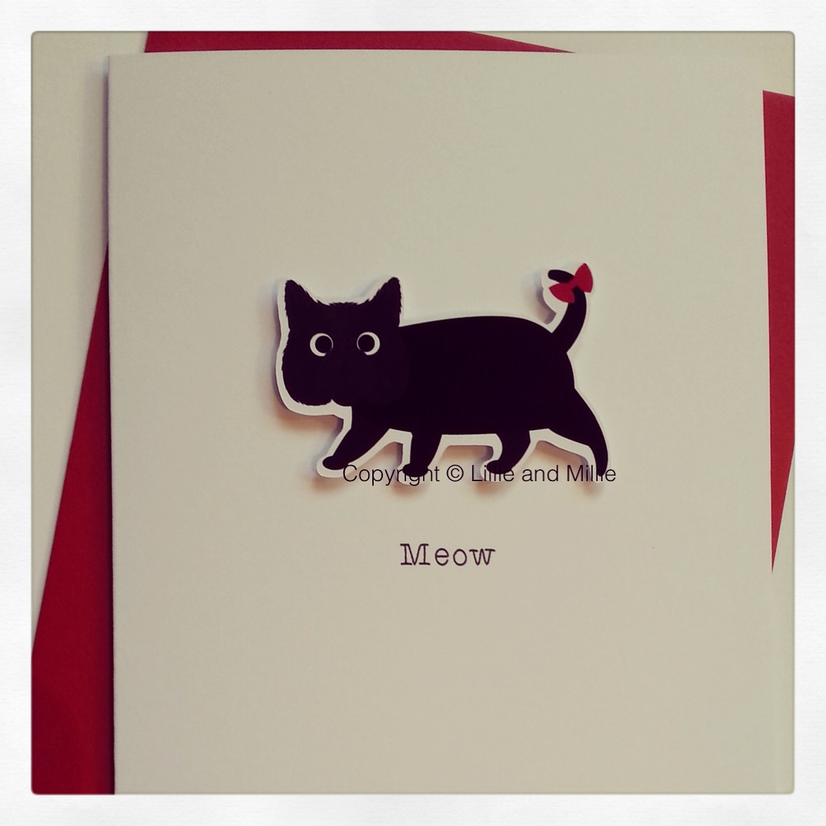Cute Cuddly Black Cat Greetings Card