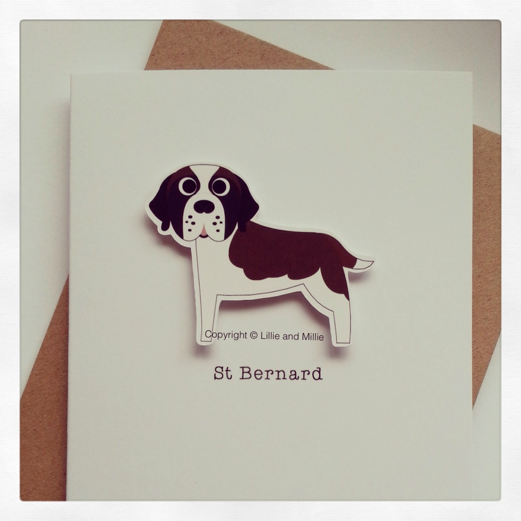 Precious Pooch Brown and White St Bernard Card