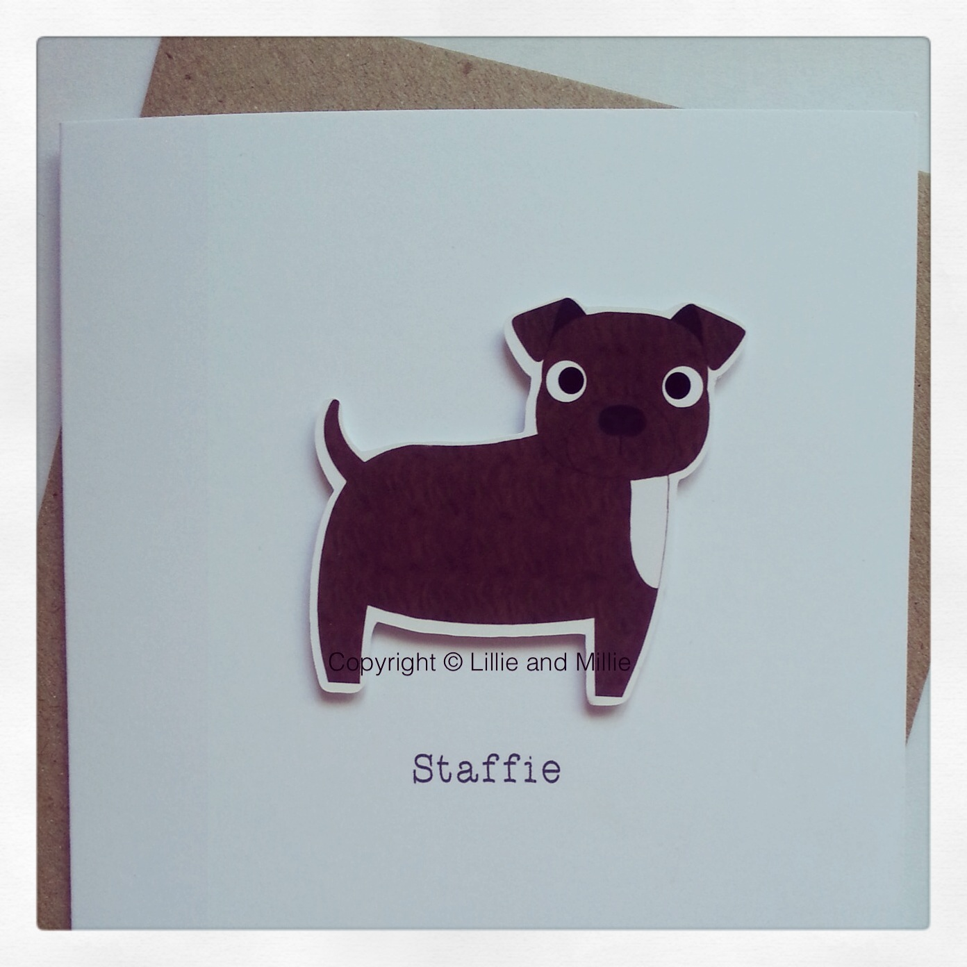 Staffie Staffordshire Terrier Dog Greetings Card