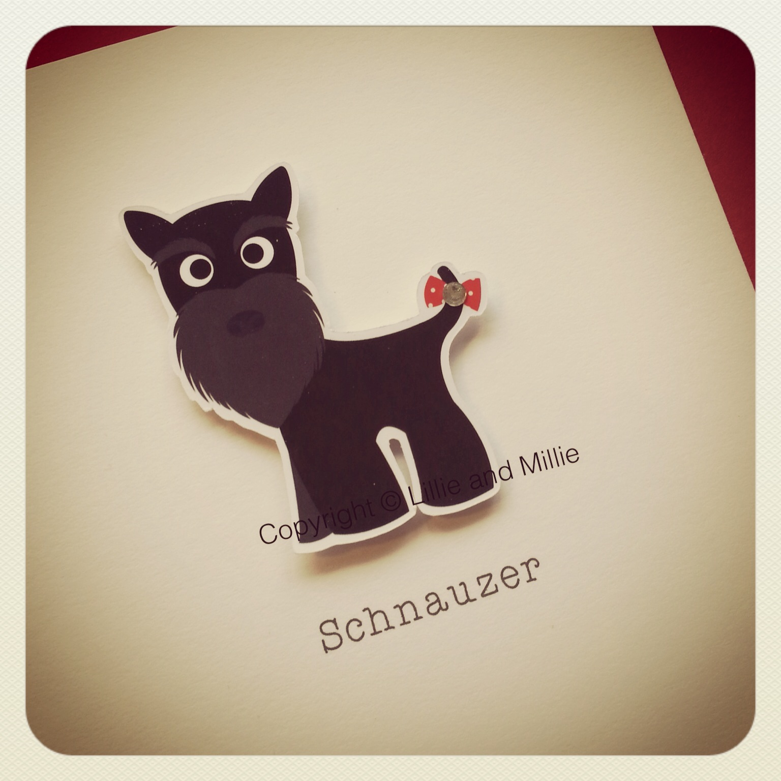 Schnauzer Dog Greetings Card