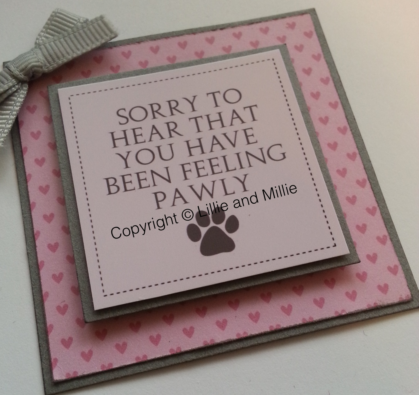 Sorry to Hear That You Have Been Feeling Pawly Card