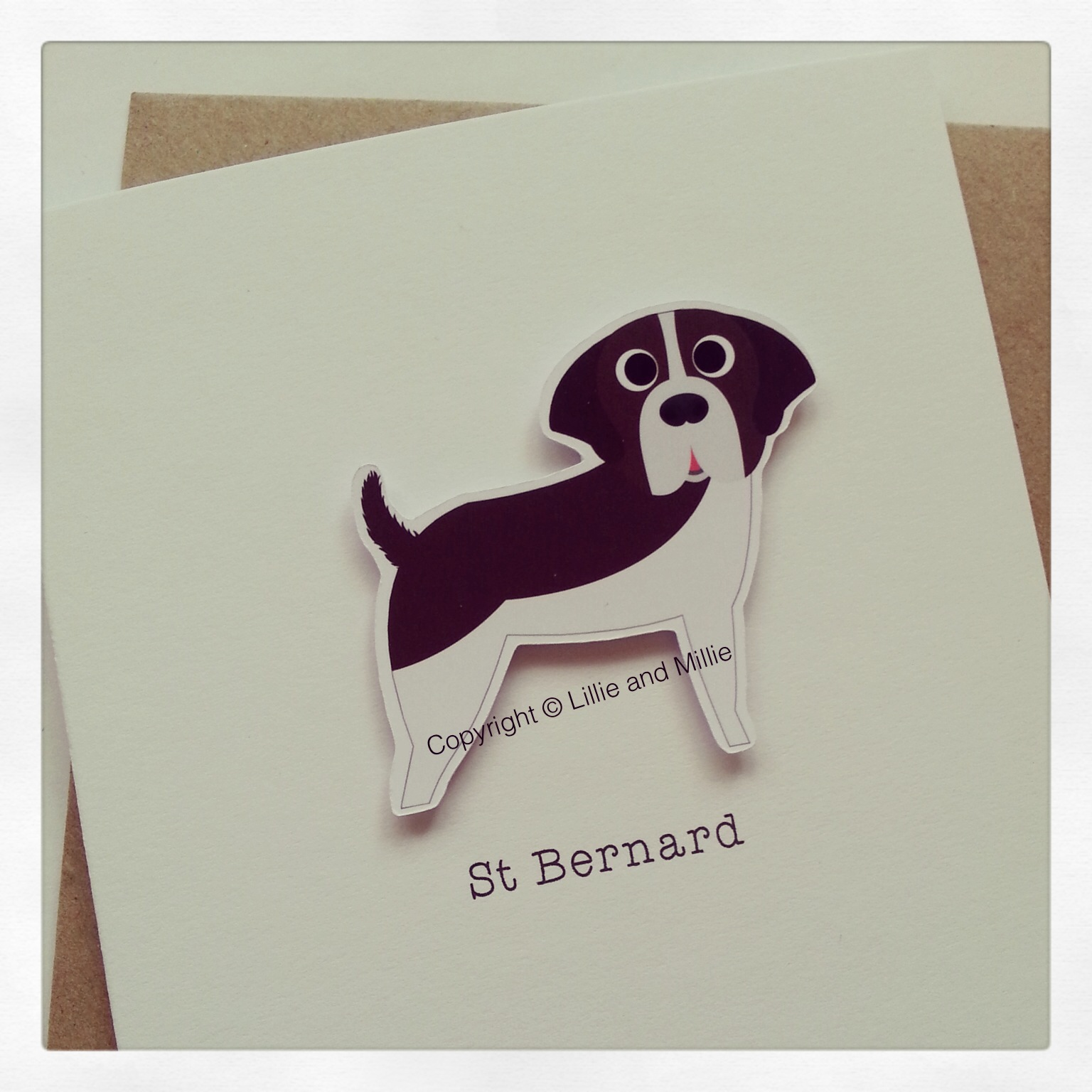 Cute and Cuddly St Bernard Greetings Card