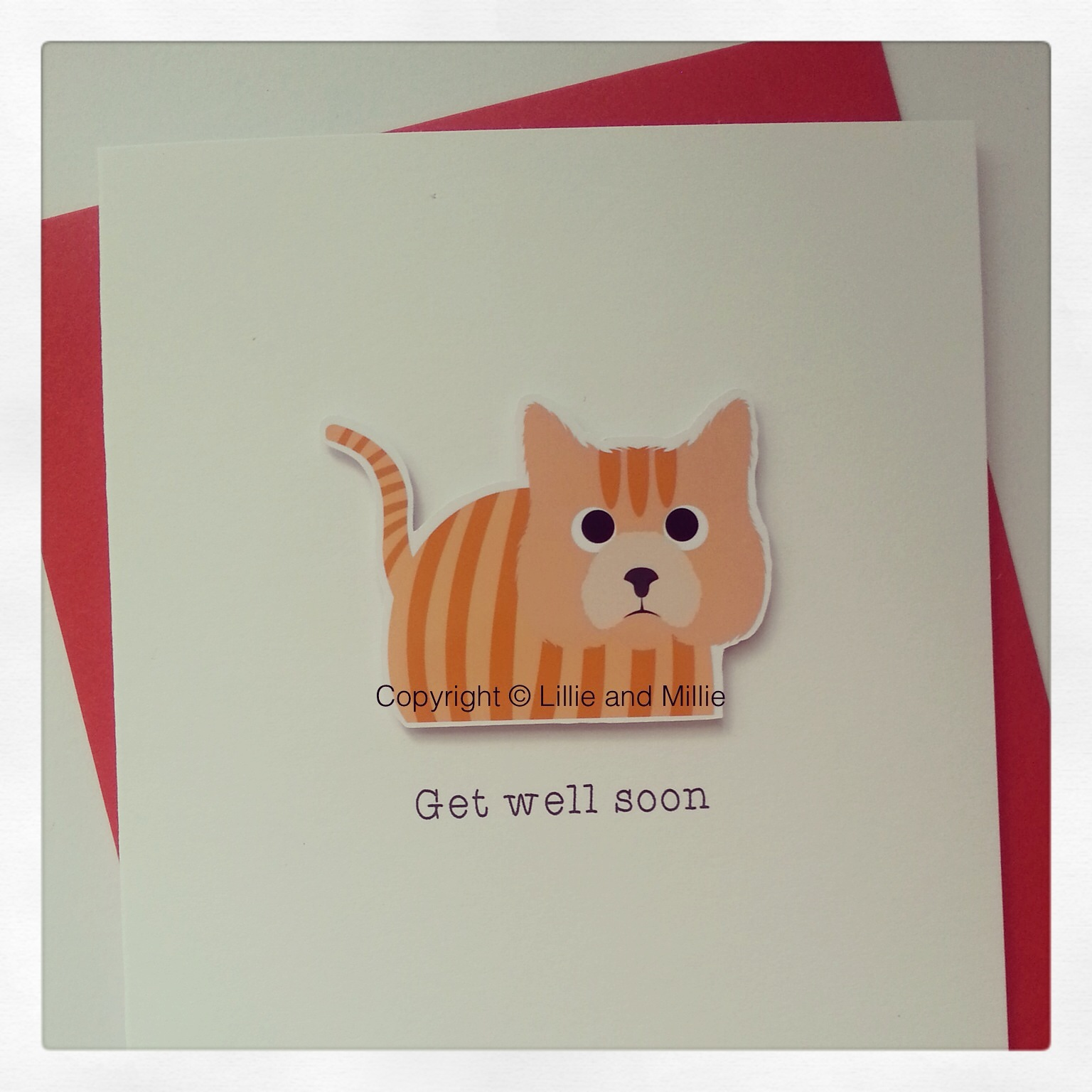 Cute and Cuddly Ginger Get Well Soon Cat Card