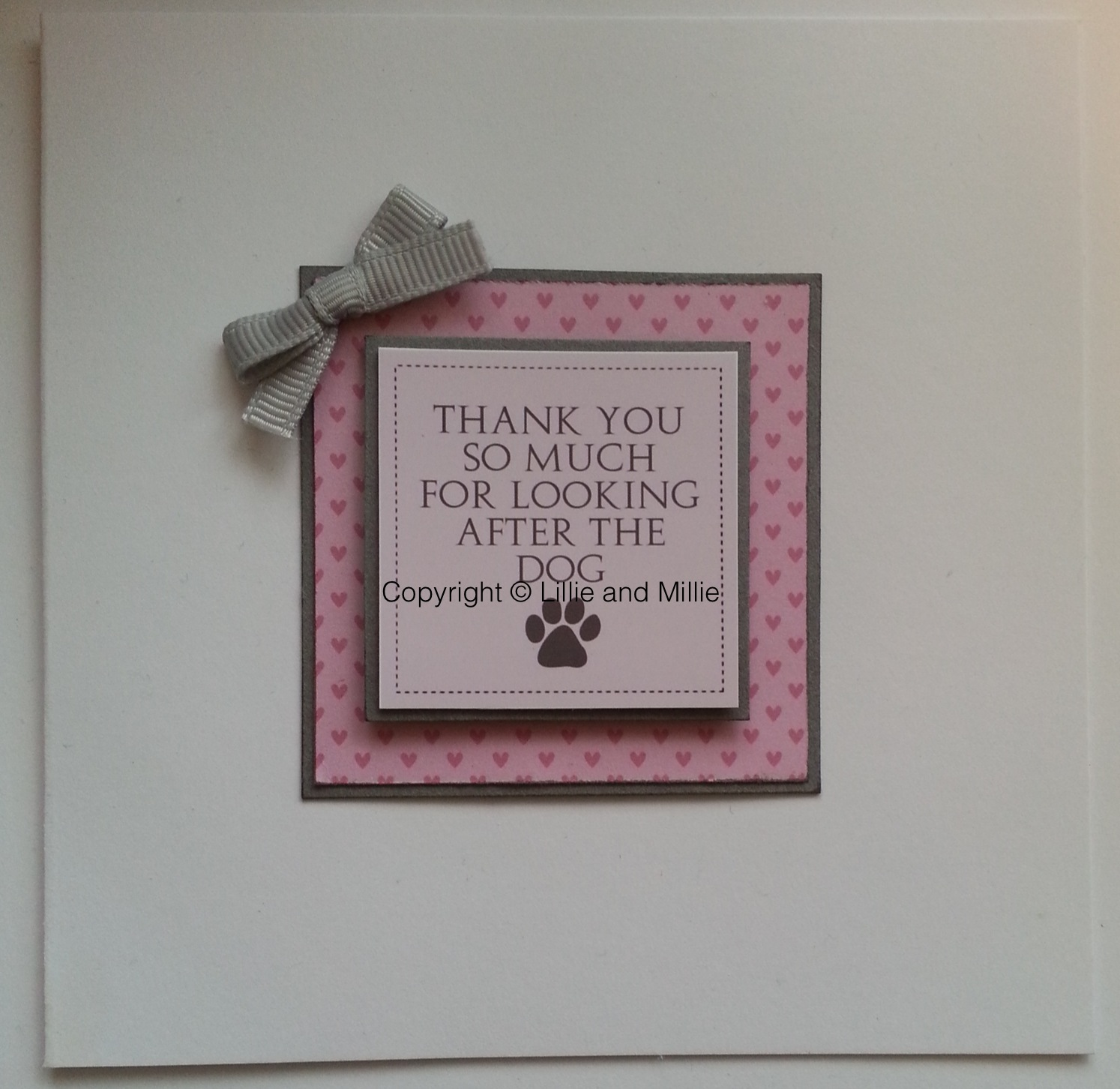 Handcrafted Handmade Dog Greetings Card