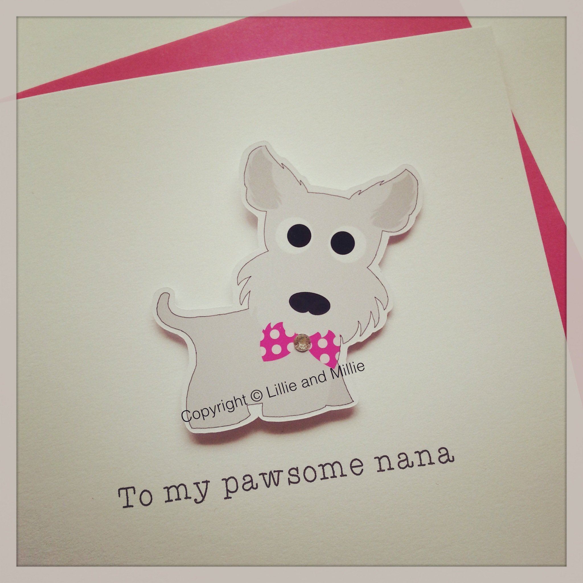 Cute and Cuddly To My Pawsome Nana Card