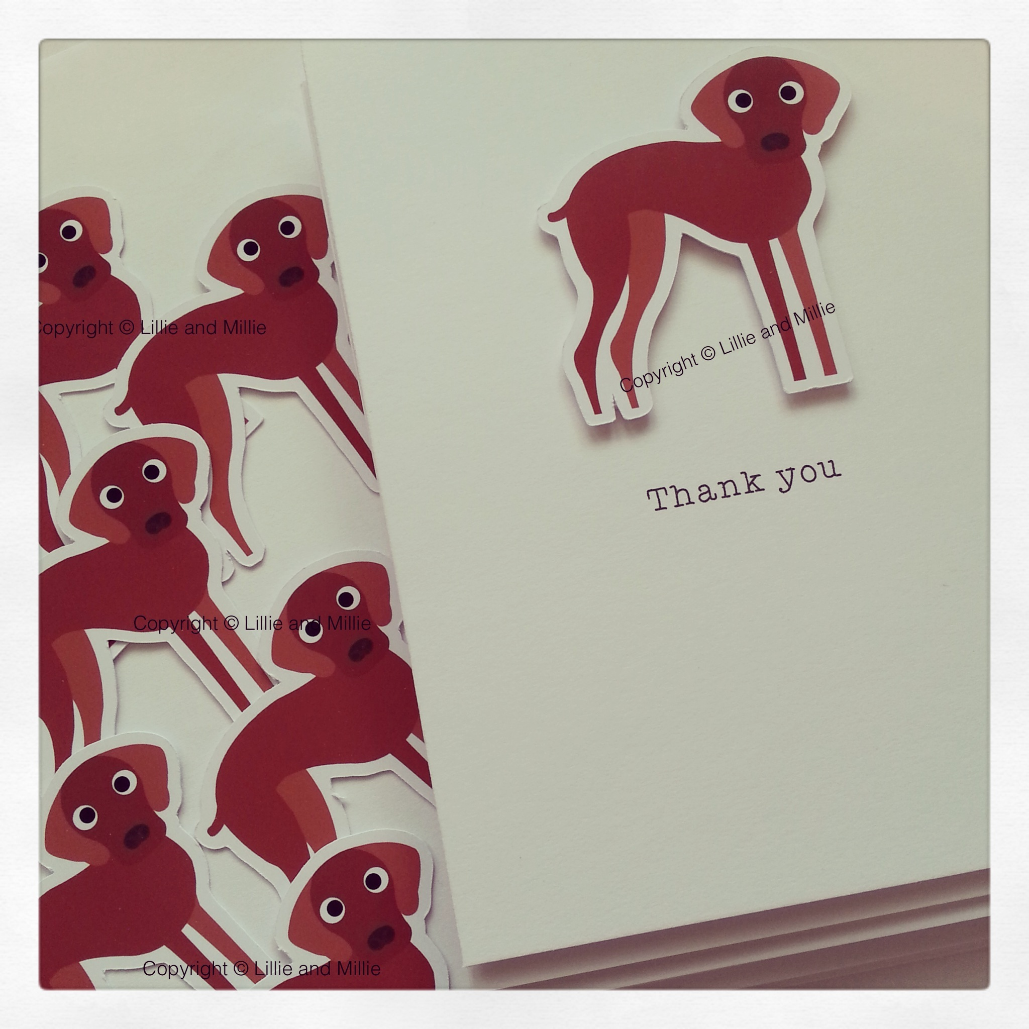 CUTE AND CUDDLY VIZSLA DOG GREETINGS CARD