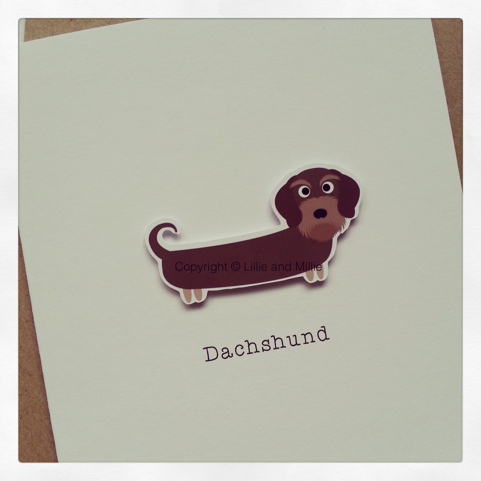 Cute and Cuddly Wire Haired Dachshund Greetings Card