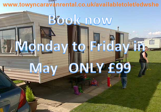 Simple Caravan For Hire At Edwards Leisure Park Towyn